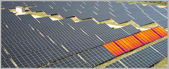 Thermographie de panneaux solaires