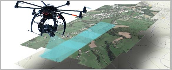 Image caractérisant une orthophotographie par drone