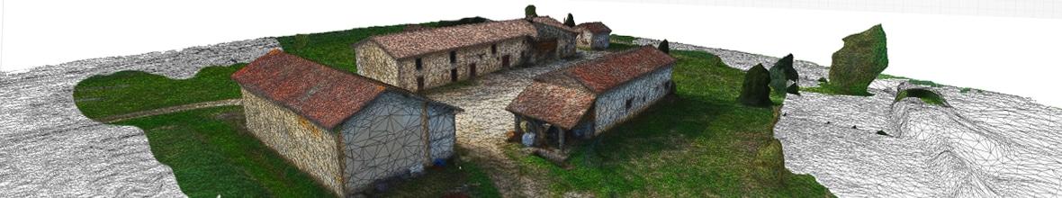 modélisation photogrammétrique en 3D par drone