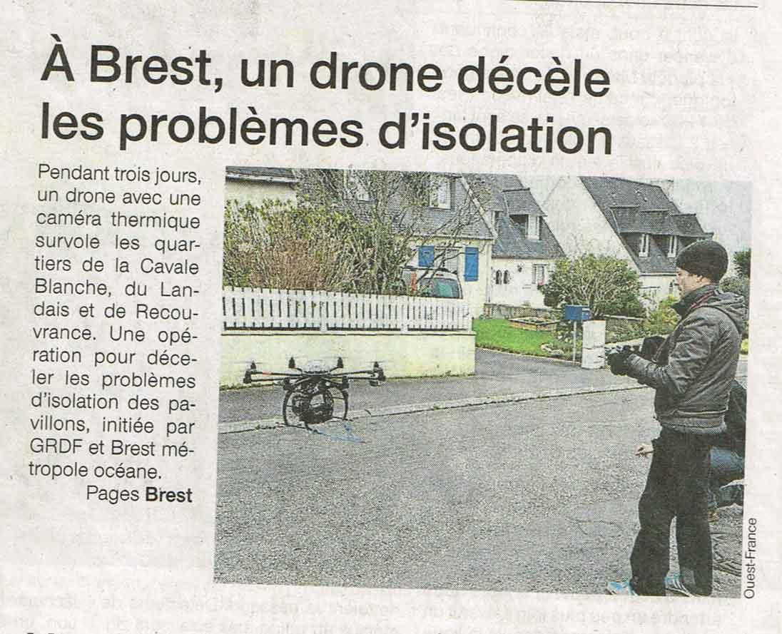 Brest Thermographie par drone
