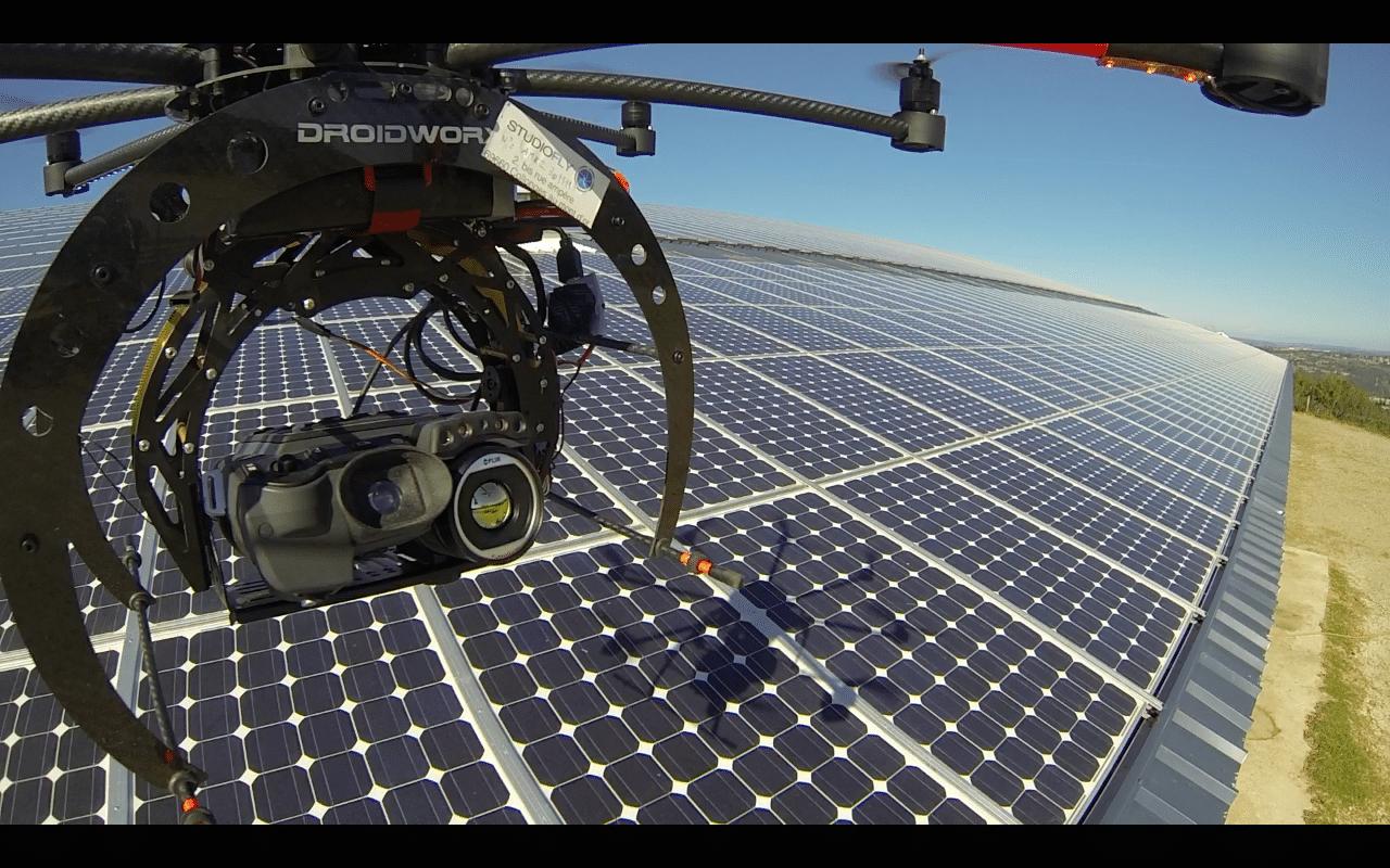 Panneau solaire, inspection thermographique