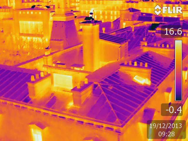 Thermogramme par drone Marie du 14e Paris