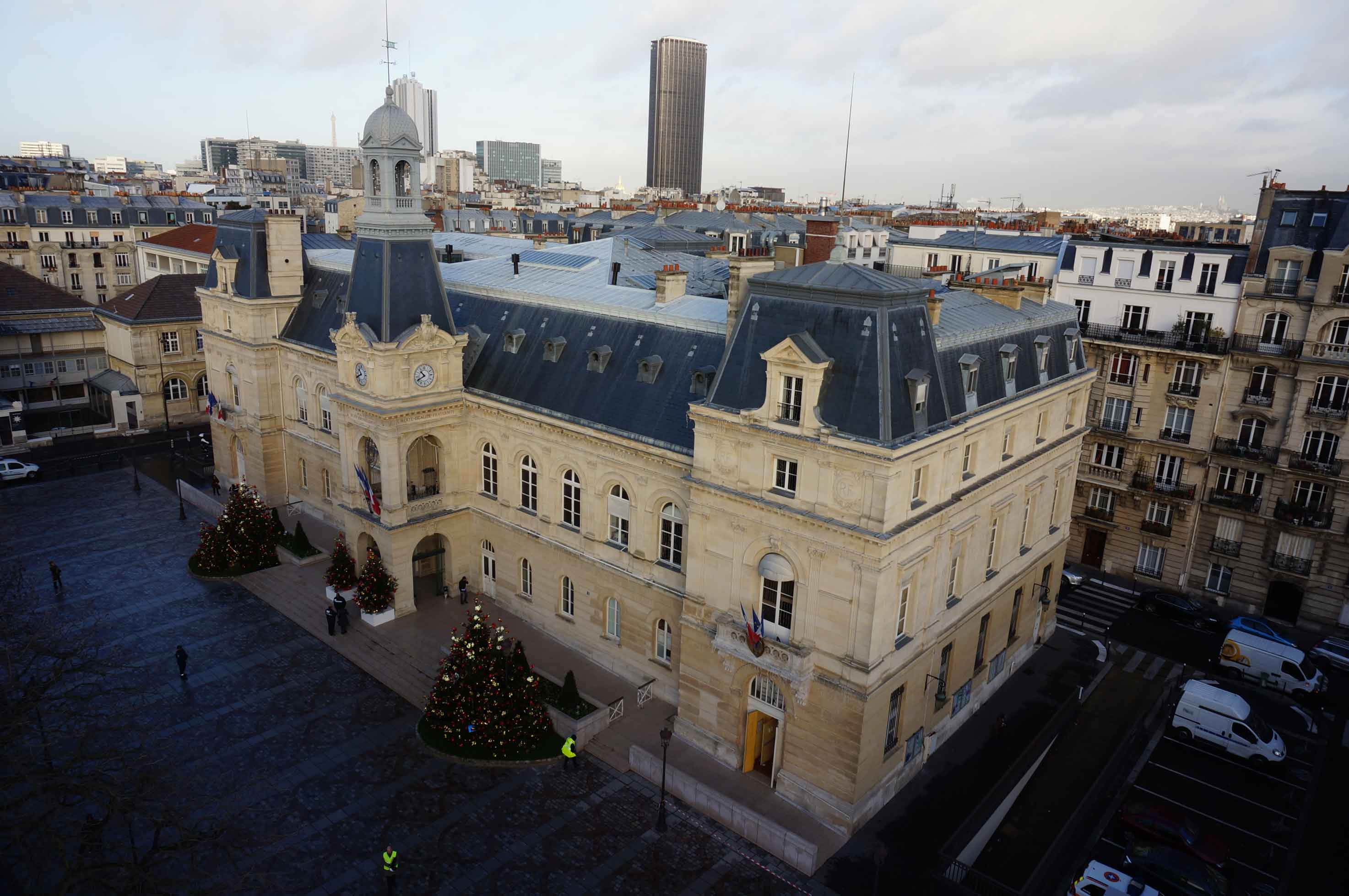 Inspection par drone Mairie du 14eme Paris