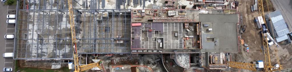 Orthophotographie par drone d'un suivi de chantier