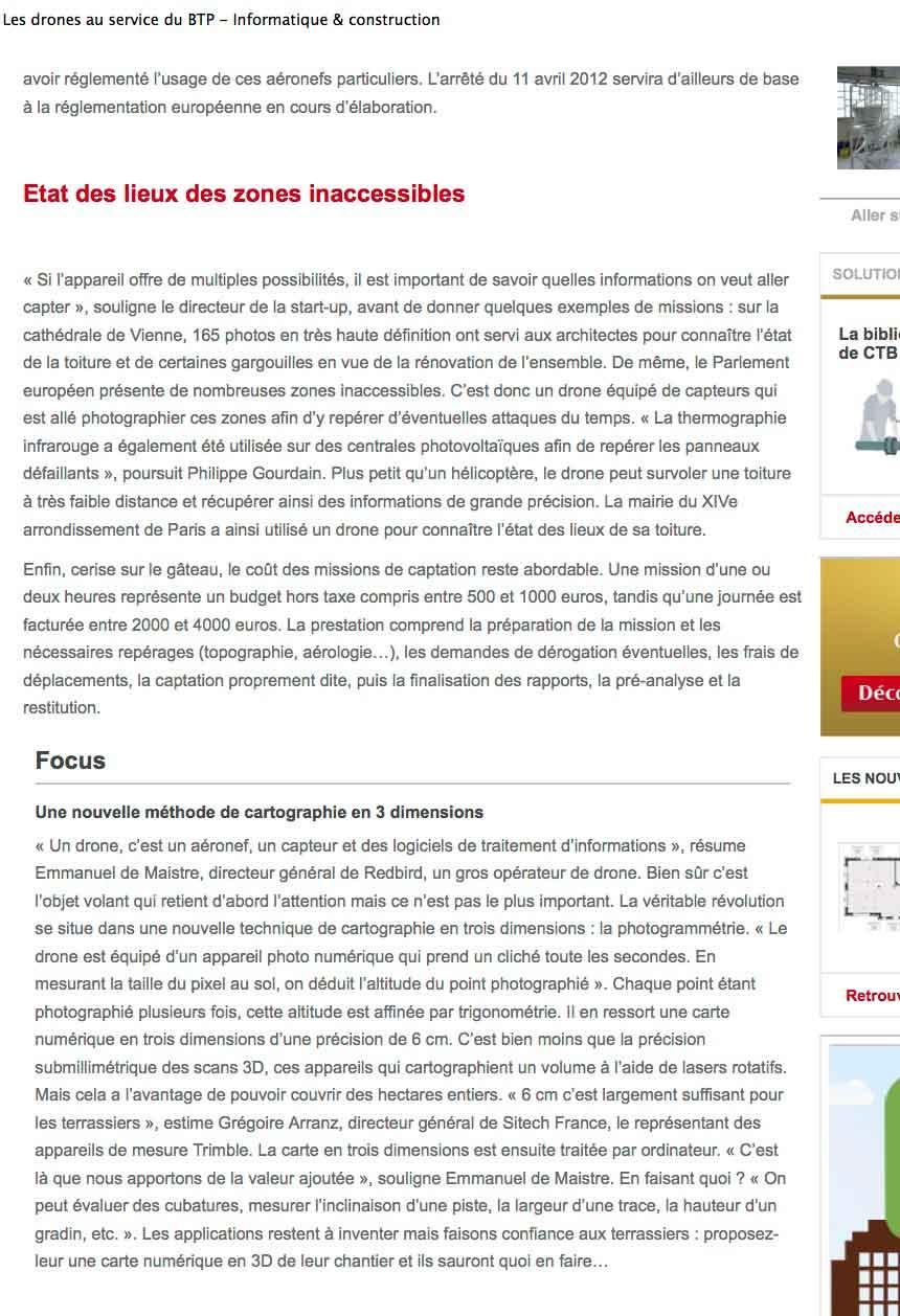 """Article """"Le Moniteur"""" sur StudioFly Technologie"""