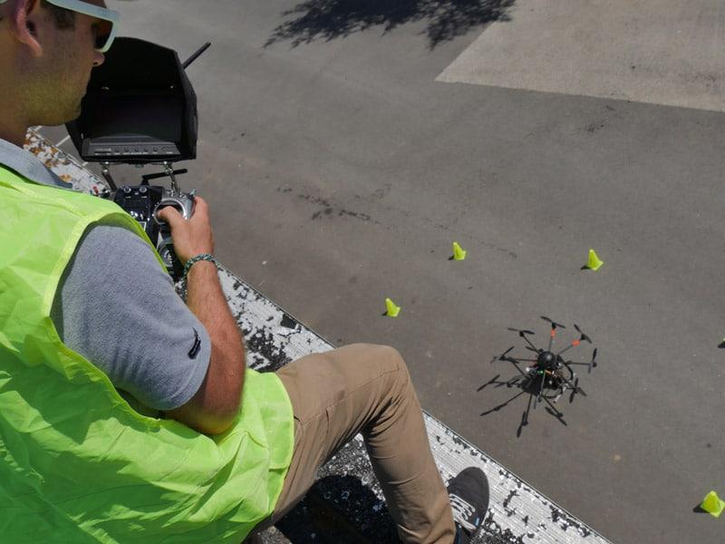 Inspection thermographie par drone