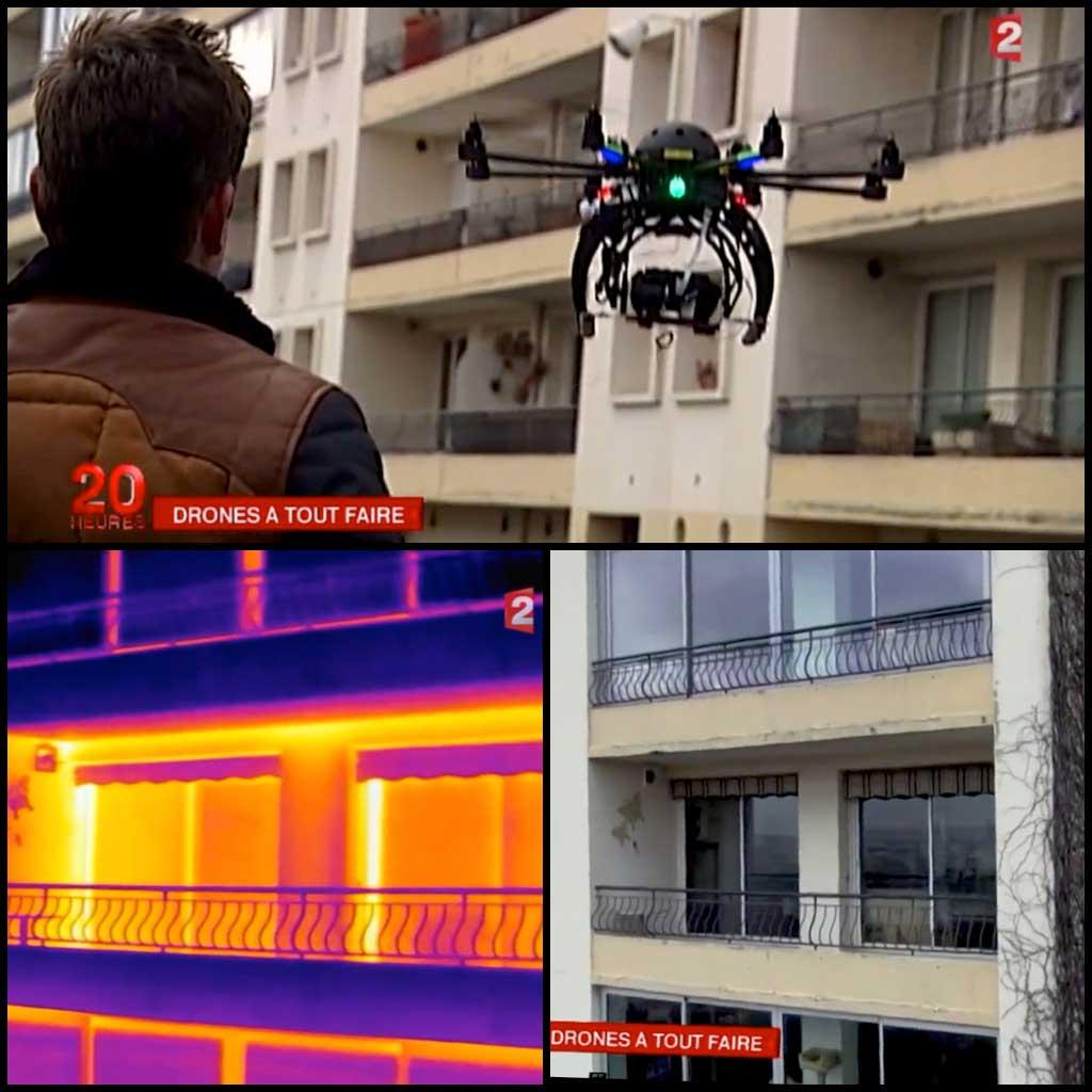 Thermographie drone Lyon