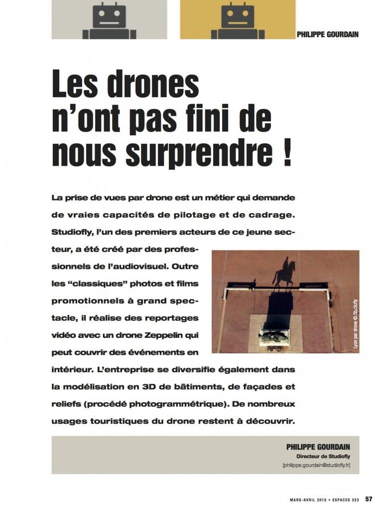 Article robotique et drones