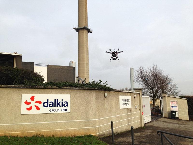 Inspection par drone d'un réseau de chaleur sous-terrain