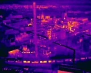 Industrie en image thermique infrarouge par drone