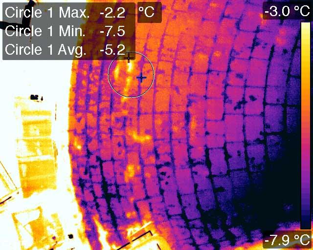 Thermogramme avec différence de température