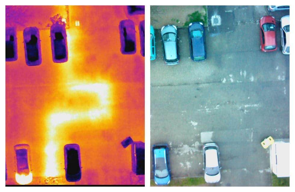 Thermographie de réseaux de chaleur par drone