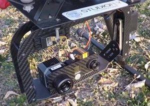 Drone équipé d'une caméra thermique