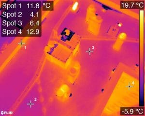 image thermique drone pour inspection batiment