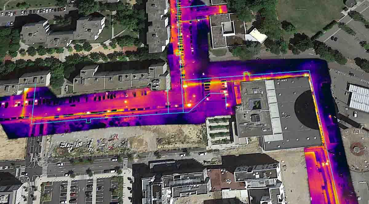 Orthophotographie par drone avec une caméra thermique