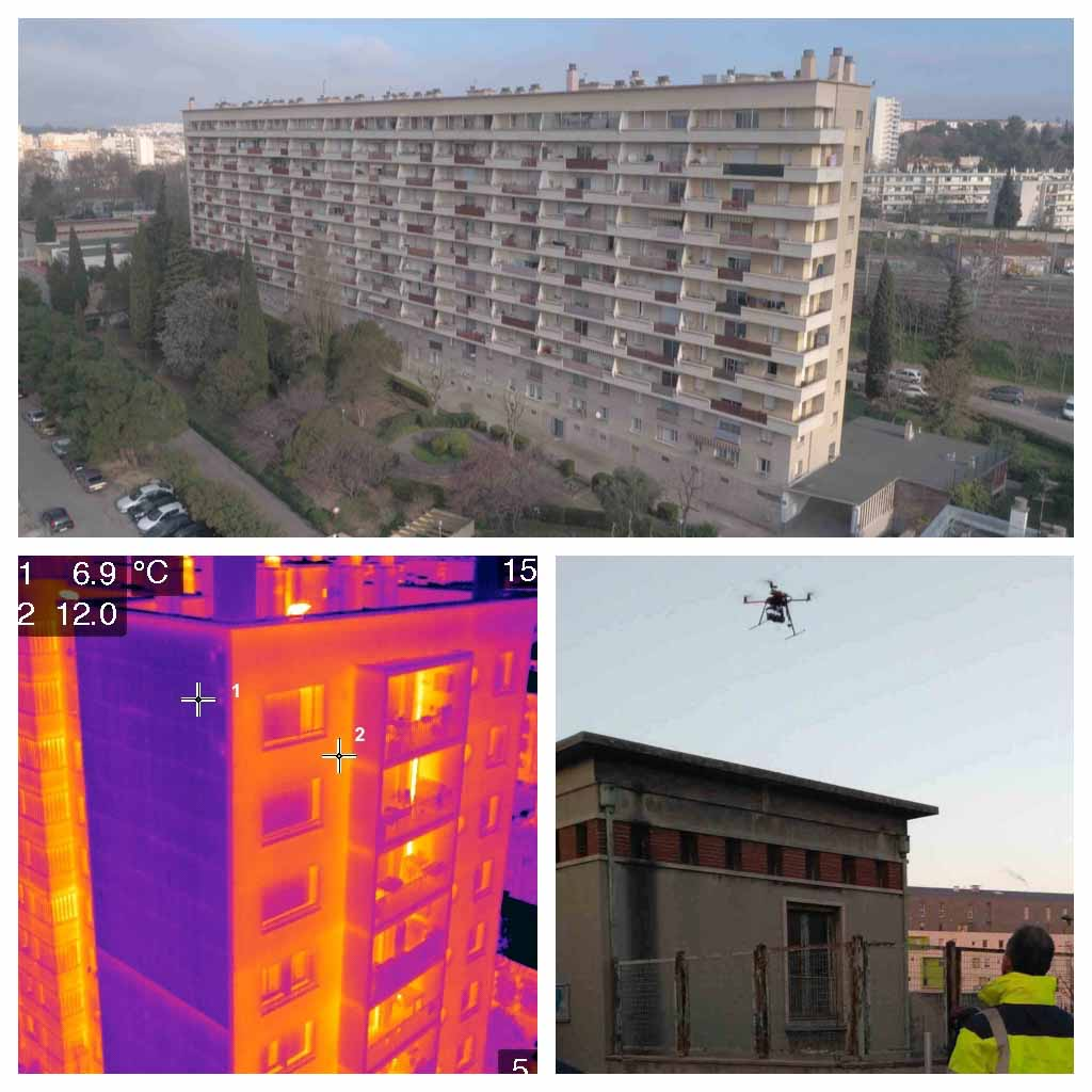 Thermographie aérienne : Détection de ponts thermiques