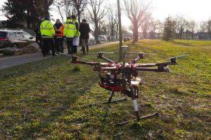 Drone au sol pour thermographie de réseau de chaleur