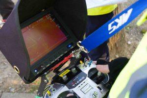 Radiocommande de drone pour thermographie aérienne