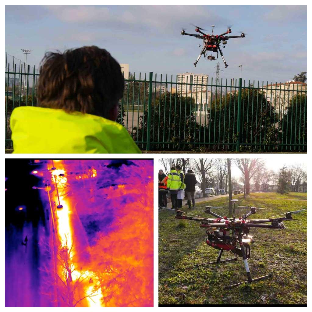 La thermographie de réseau de chaleur par drone avec Dalkia