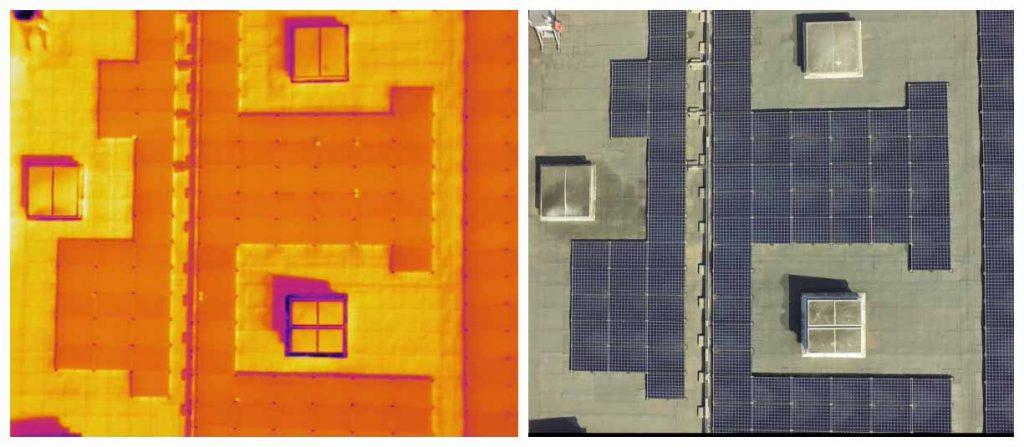 panneaux solaire thermique et visuel