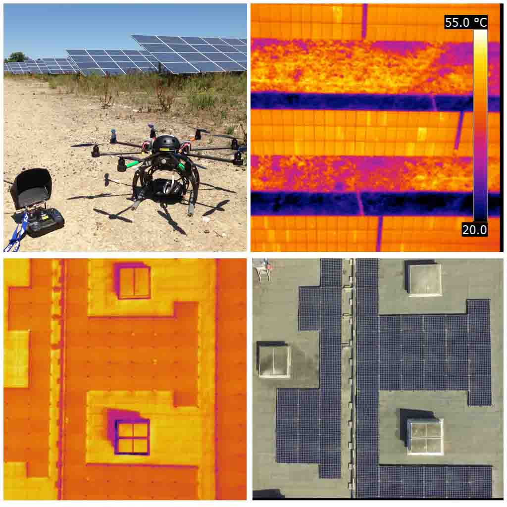 Inspection de centrale photovoltaïque par drone