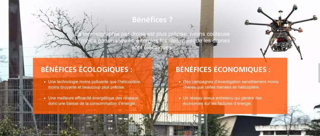 Bénéfice écologique et économique du drone