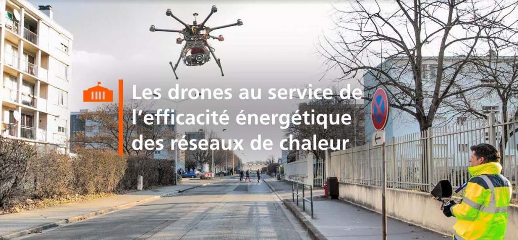 Thermographie de réseaux de chaleur par drone avec DALKIA