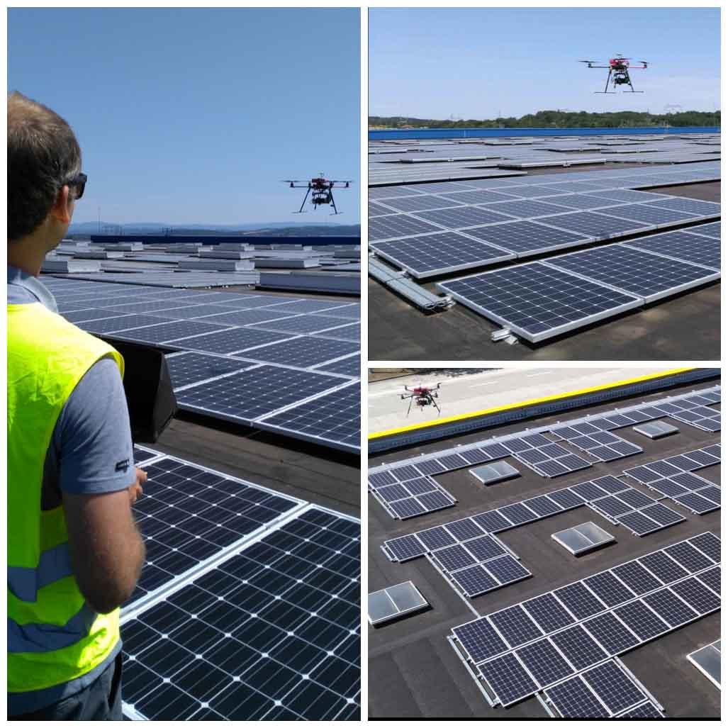 Inspection de panneaux solaires par drone | Centrale photovoltaïque IKEA
