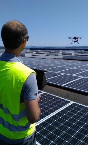 Pilote de drone pour inspection thermique