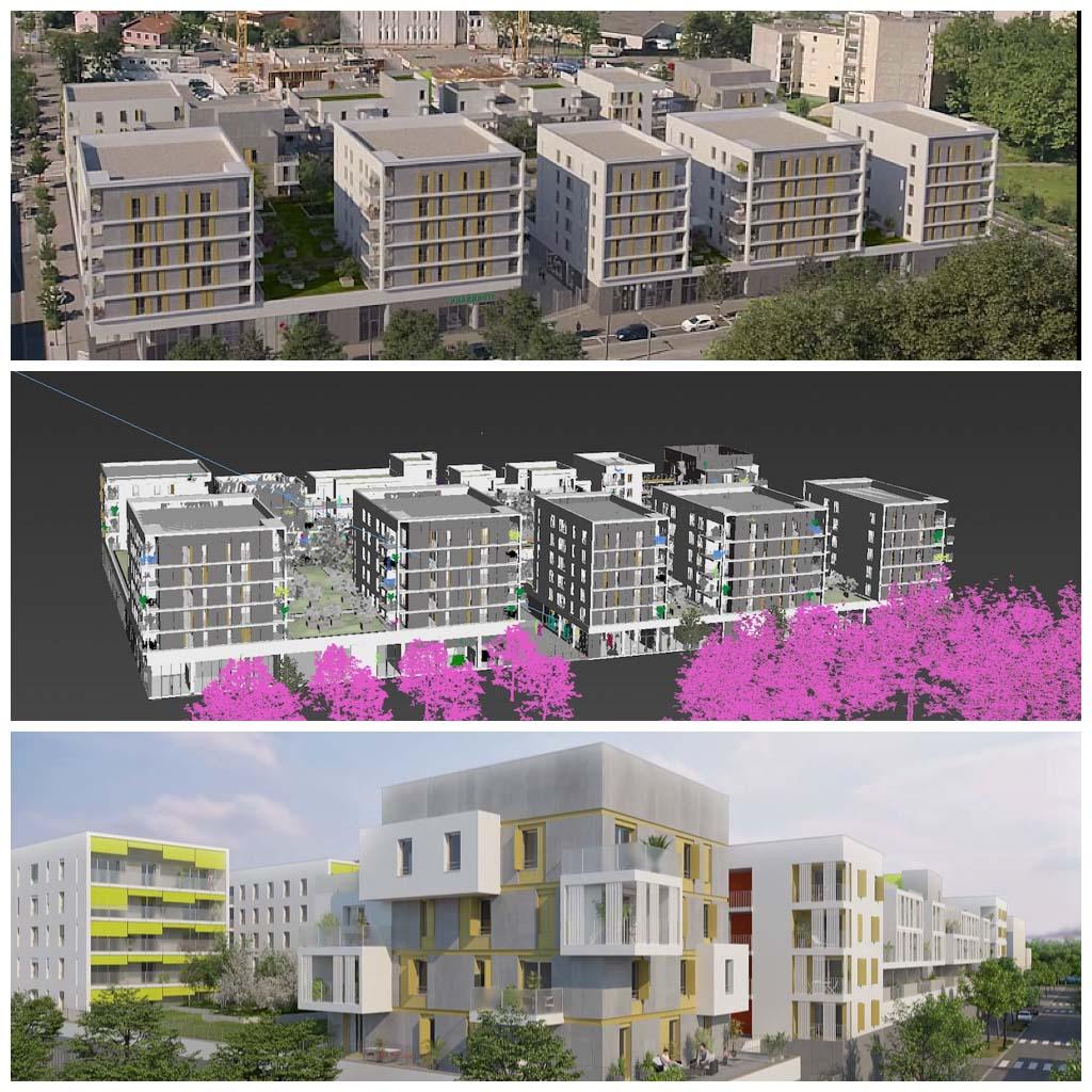 Promotion immobilière par drone | insertion d'un bâtiment en vidéo