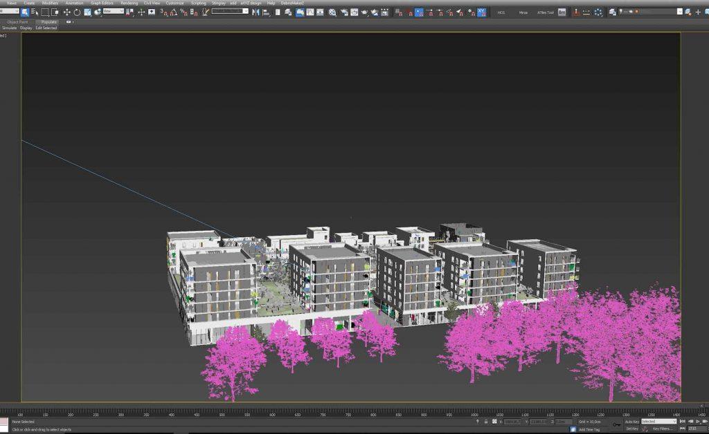 modélisation 3D par drone de bâtiments