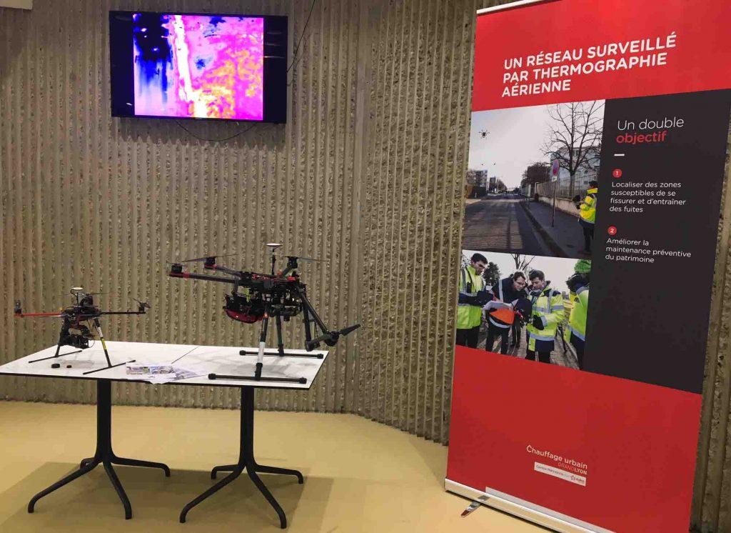 Inspection drone et Dalkia