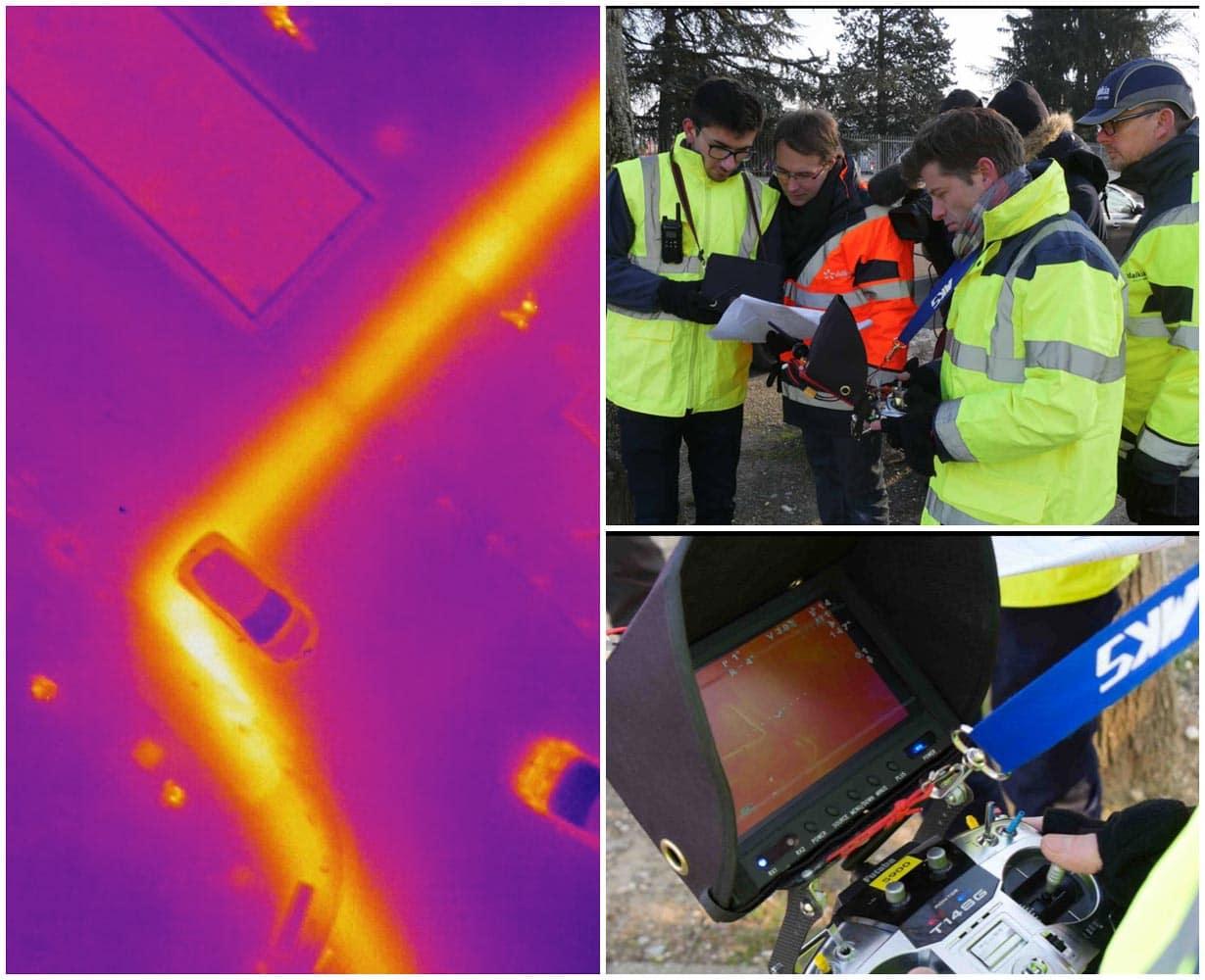 Thermographie de réseau de chaleur par drone – 40 Kms avec Dalkia