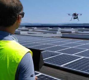 Thermographie de panneaux solaire par drone