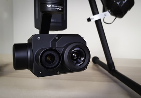 Caméra thermique drone